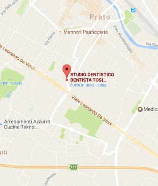 Mappa Dentista Tosi Chiara Prato