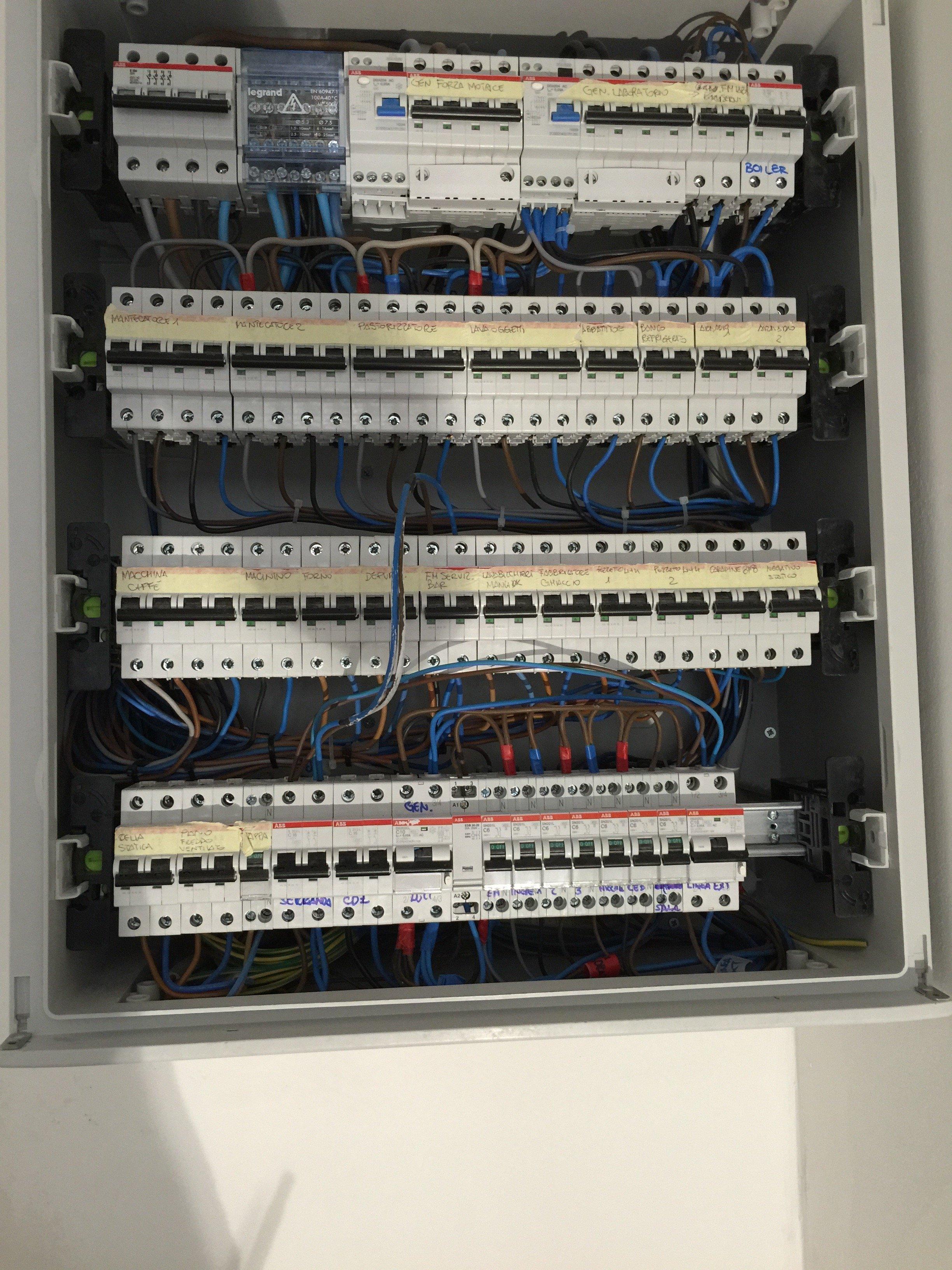 manutenzione quadri elettrici Elettrozena Genova