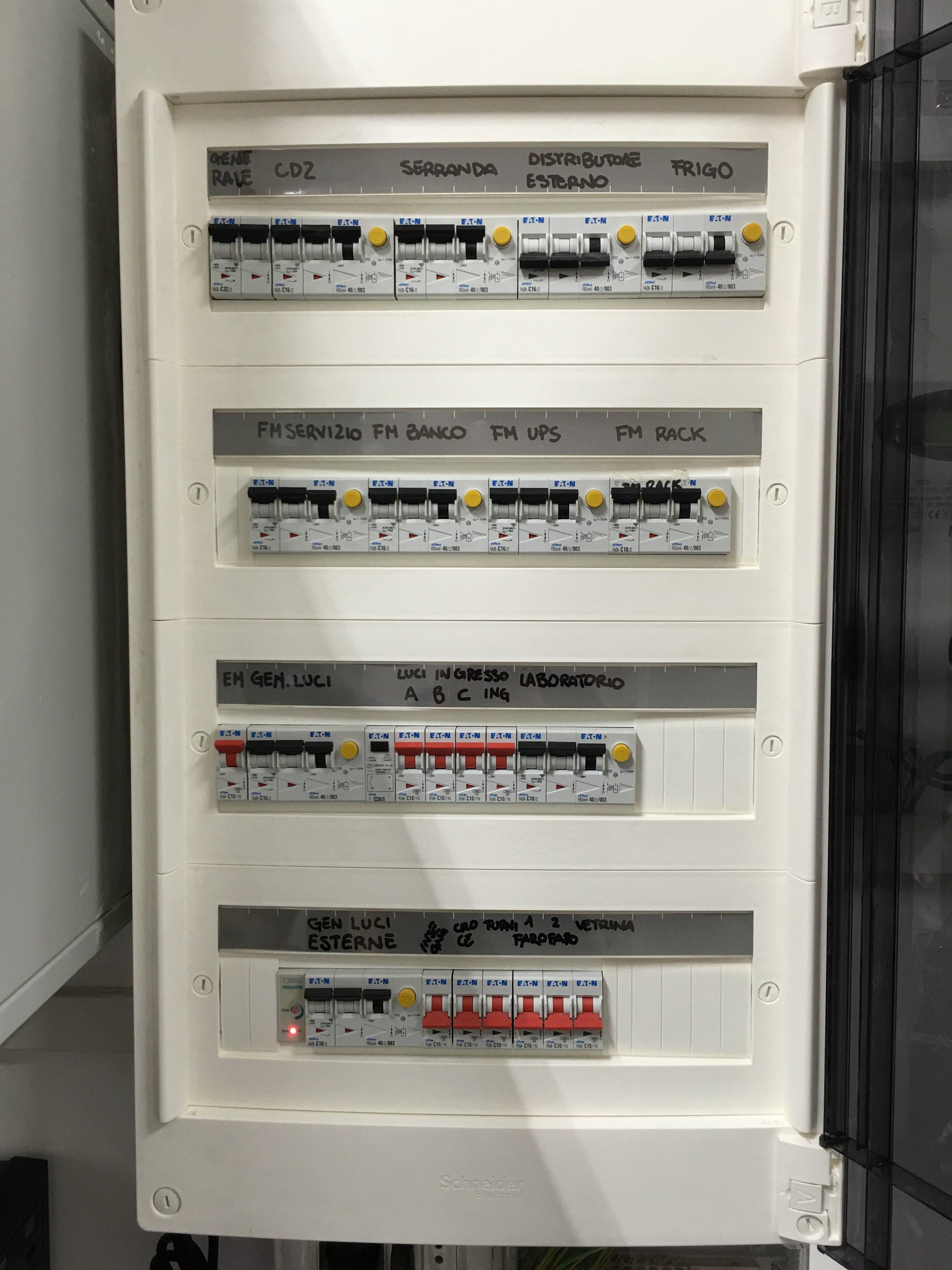 sostituzione quadri elettrici Elettrozena Genova