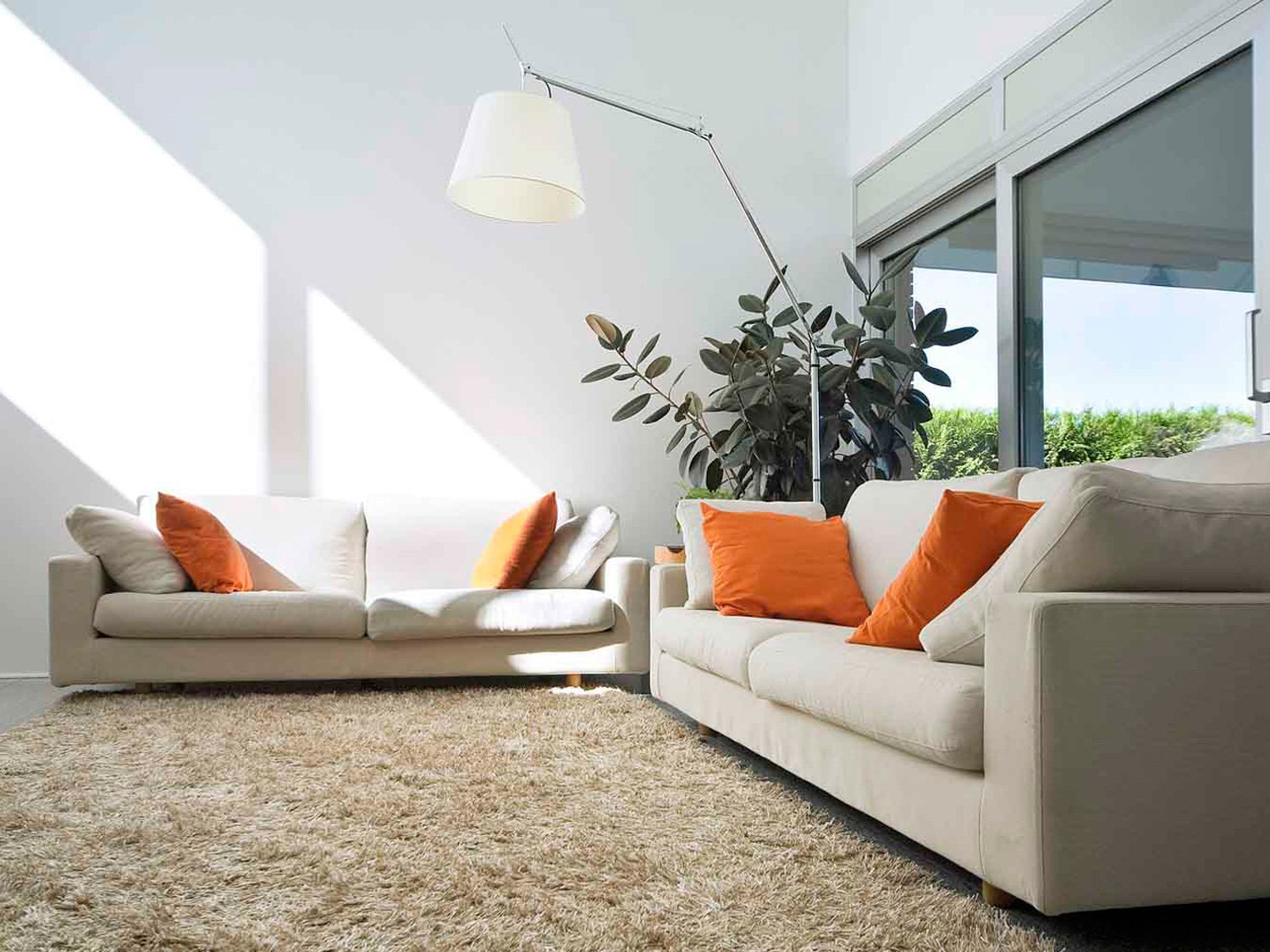 View of the upholstery sofa set