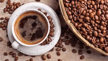 aroma, caffe, tazza, chicchi