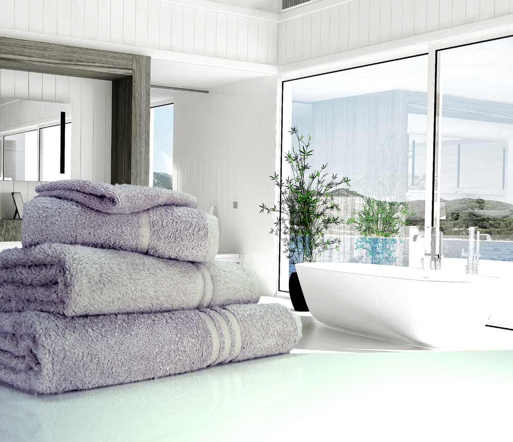 Light grey towels