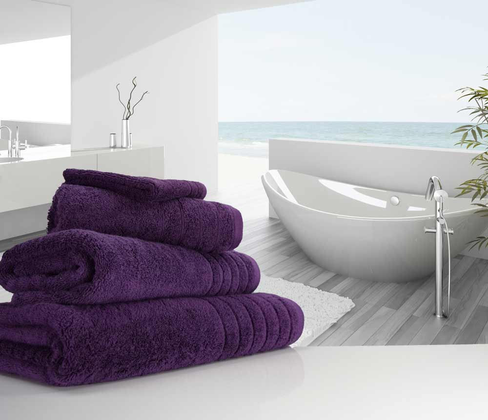 Aubergine Purple Towels
