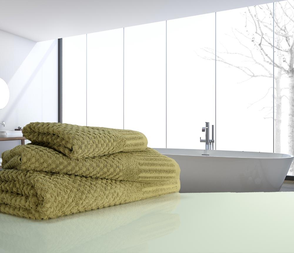 waffle mocha towels