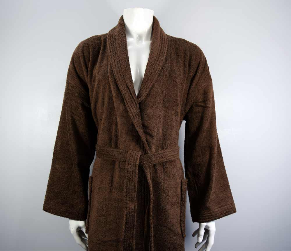 Light chocolate bath robe