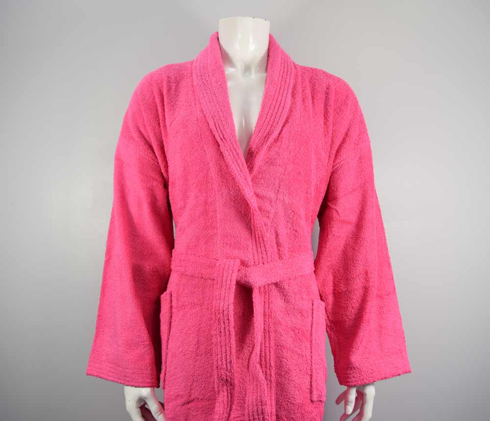 Hot pink cerise bathrobe