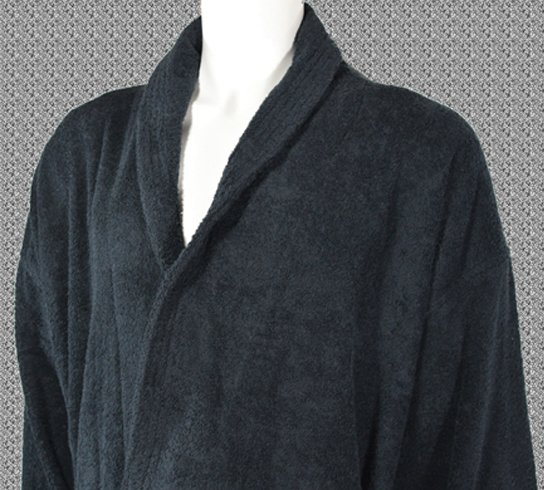 Black 400gsm Bathrobe
