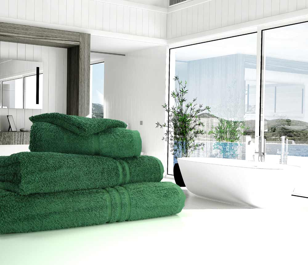 Bottle or Forest Green Towels