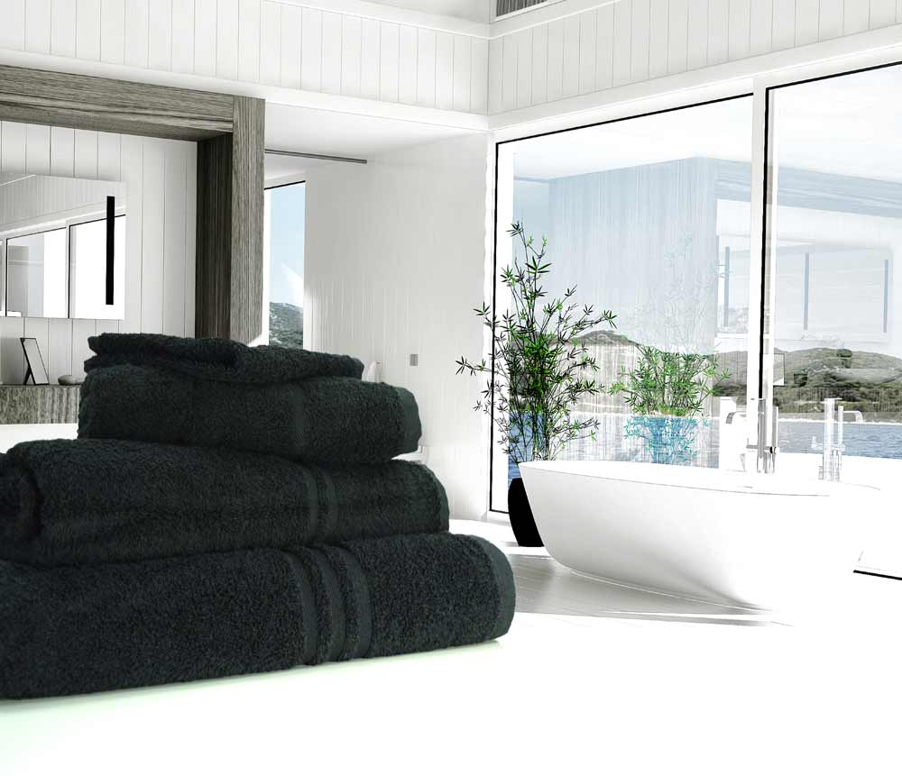 Black Towels