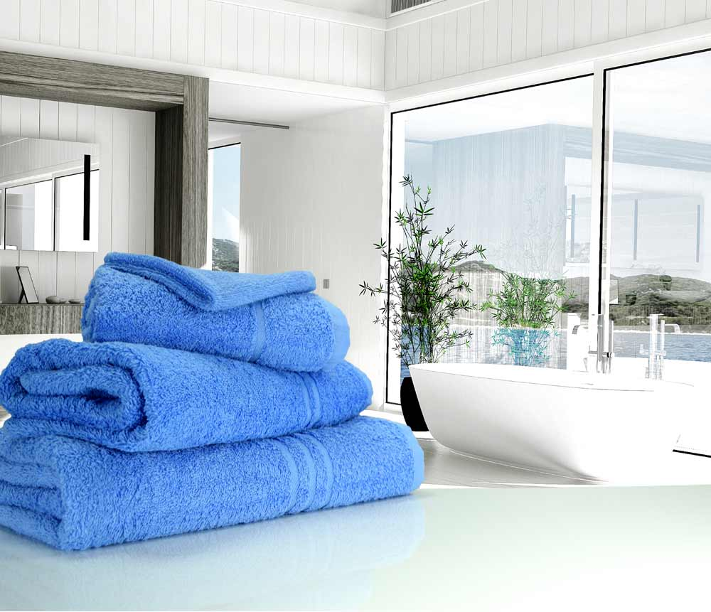 Mediterranean light Blue towels