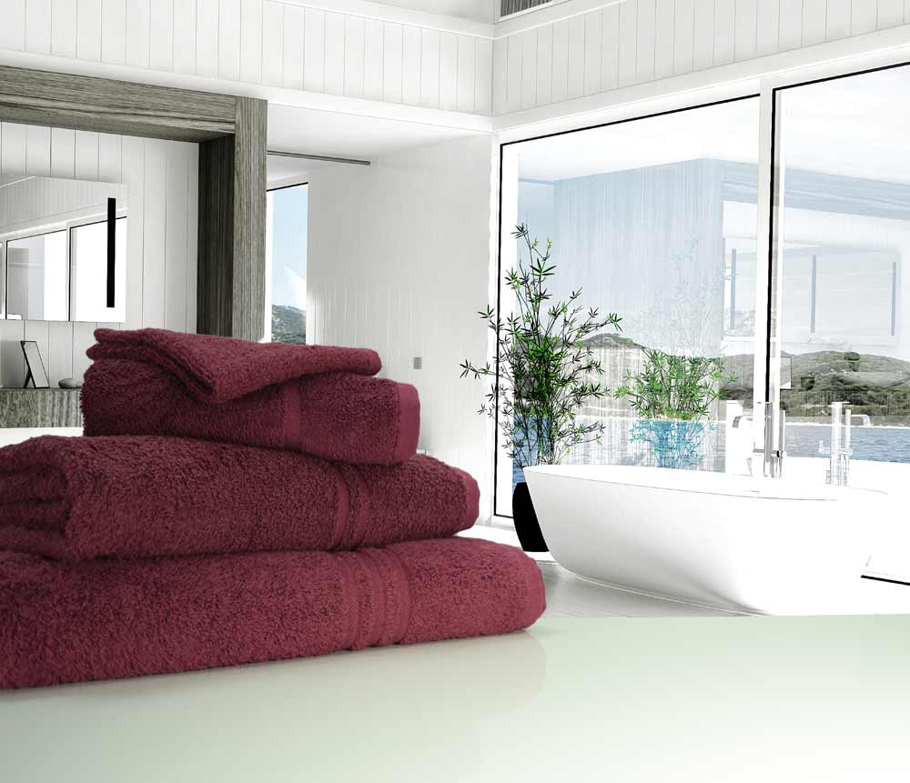 Plum Burgundy Towels