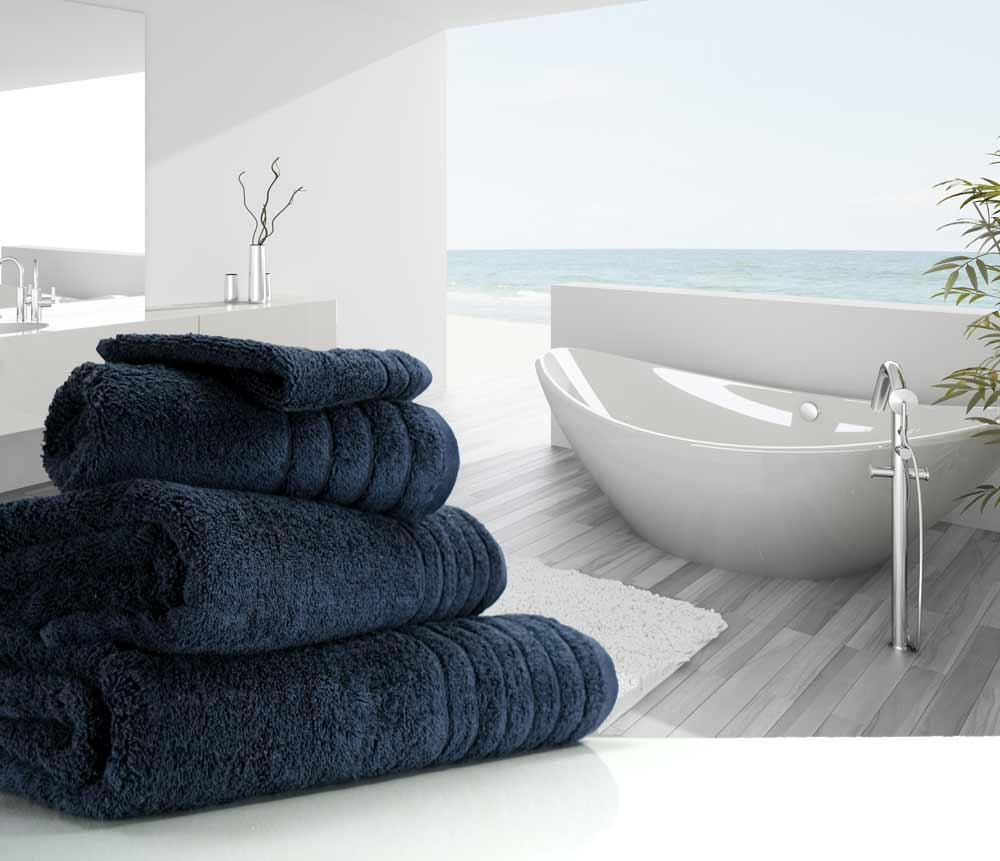 Dark Navy Blue Towels