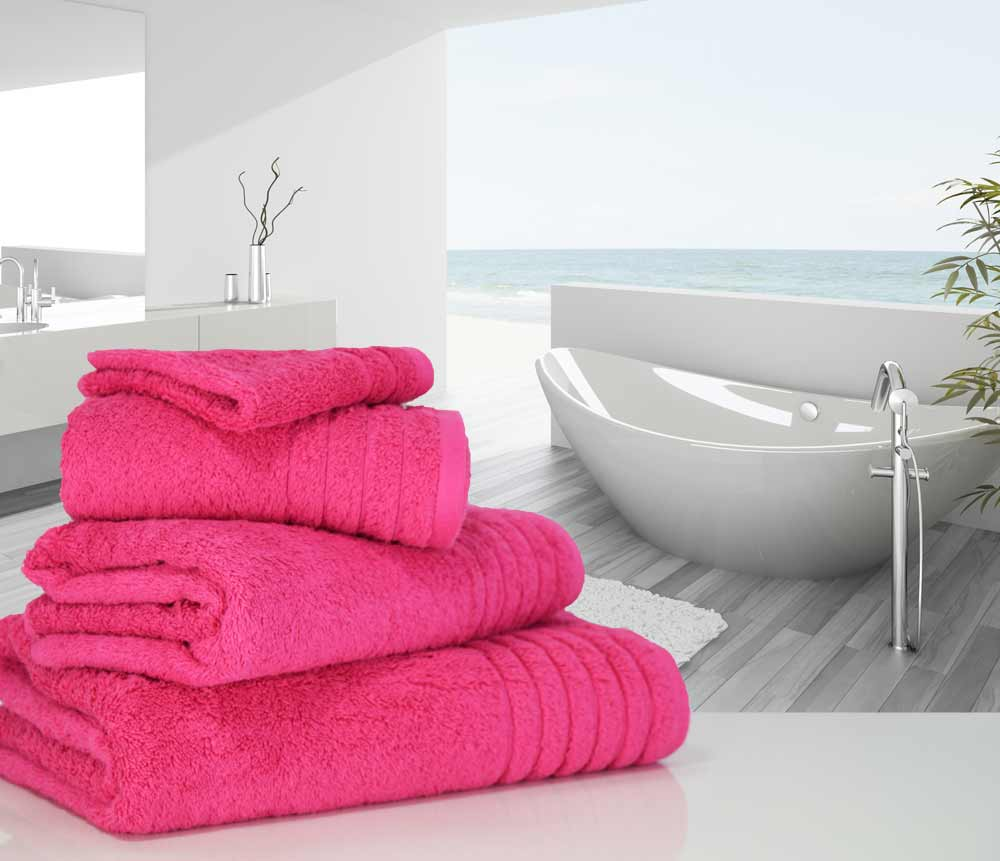 Hot Pink Cerise Towels