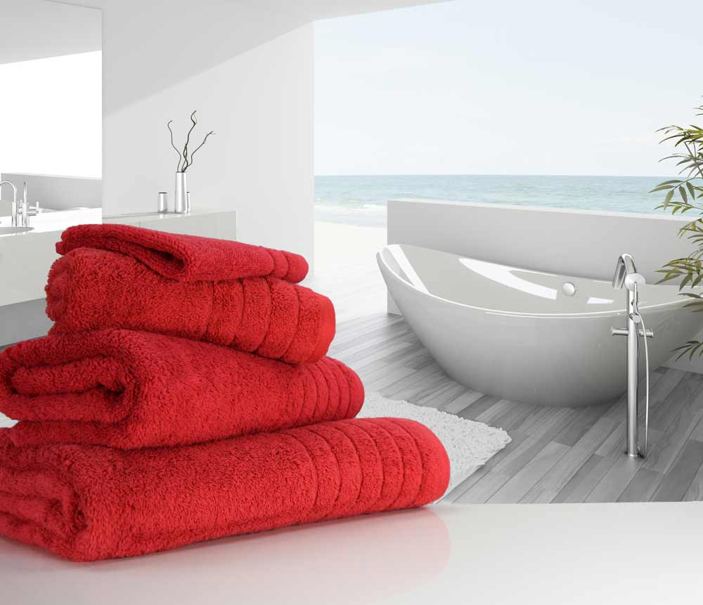 Cherry Red Towels