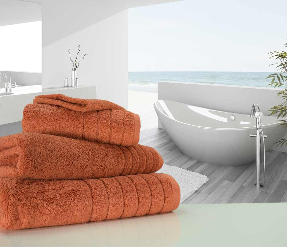 Burnt Sienna Terracotta Towels