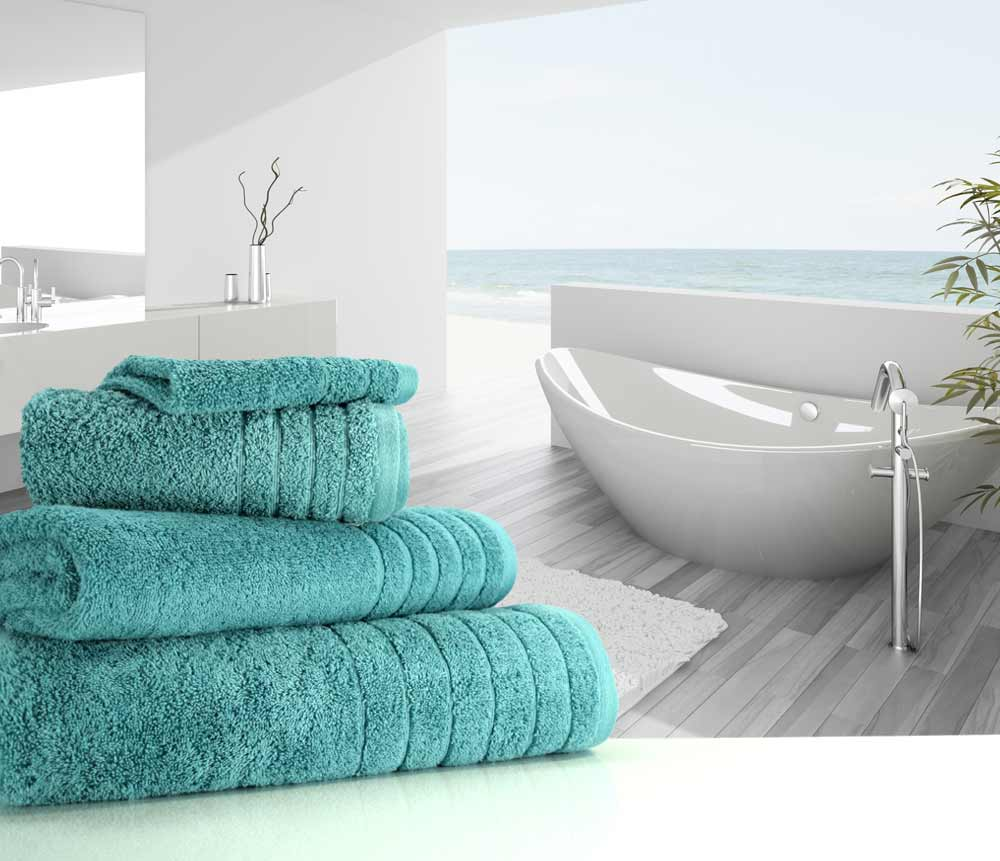 Teal Green Blue Towels