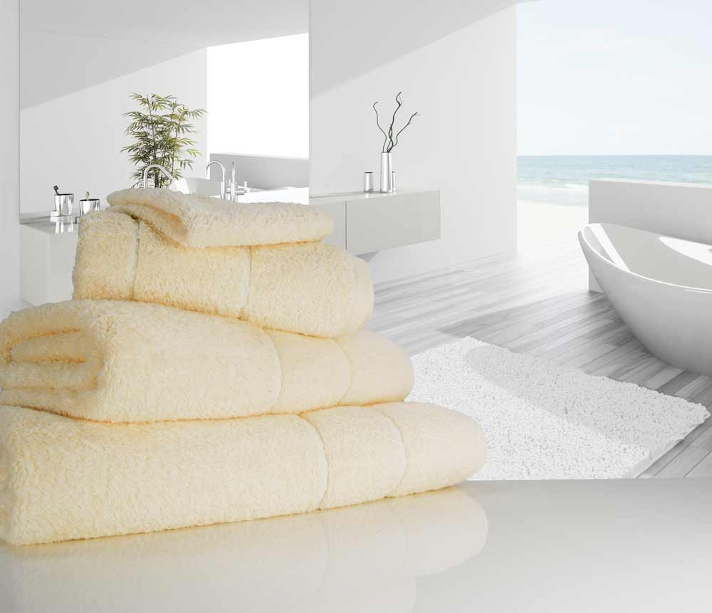 Vanilla Cream luxury towels