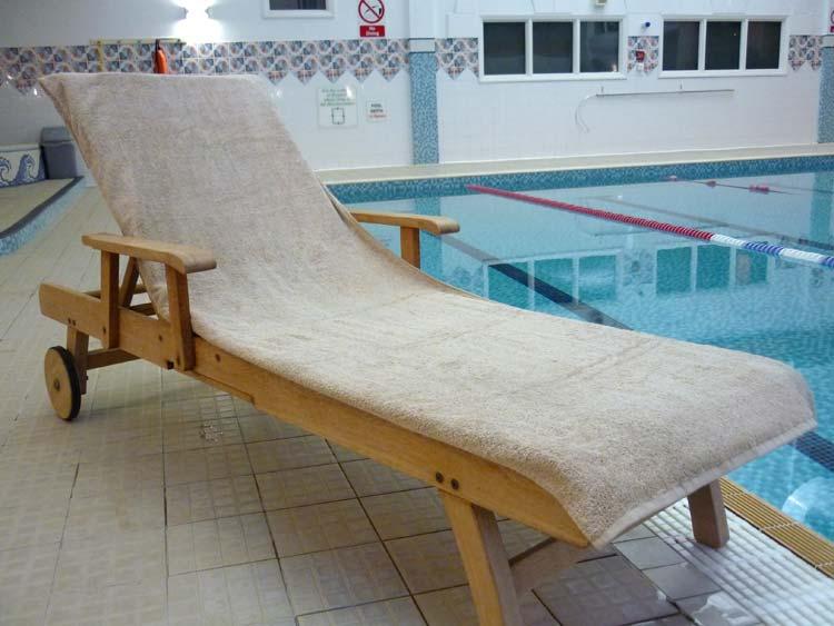 Mocha Sun Lounger Towel