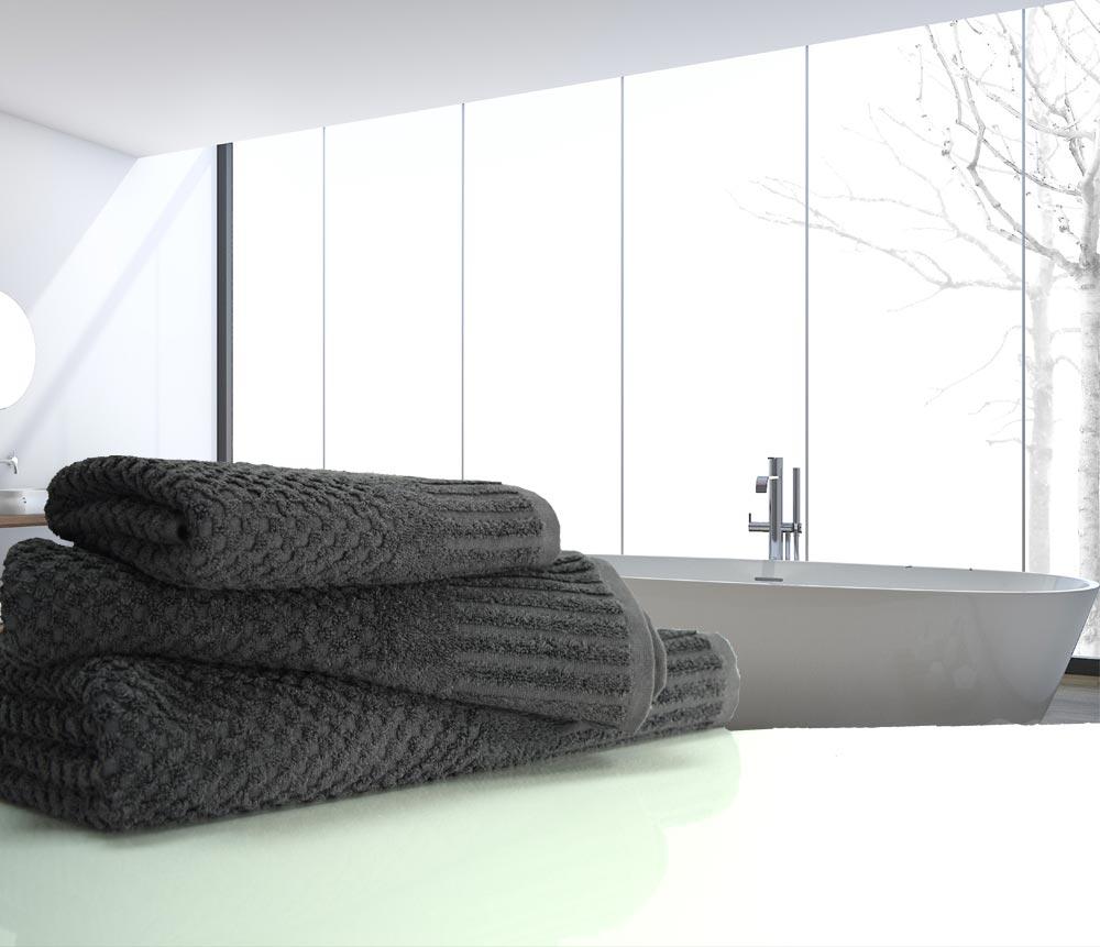 waffle charcoal towels