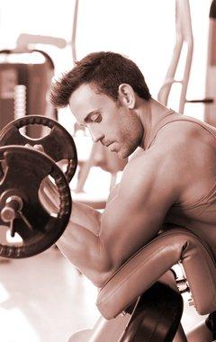 man during cardio training