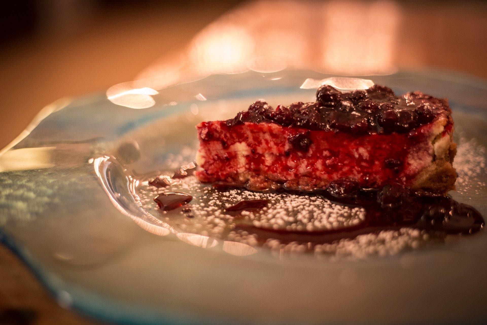 fetta di cheesecake al vermouth