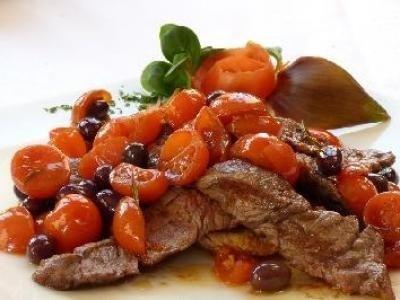 Tagliata alle olive taggiasche