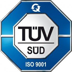 logo della certificazione TUV ISO 9001