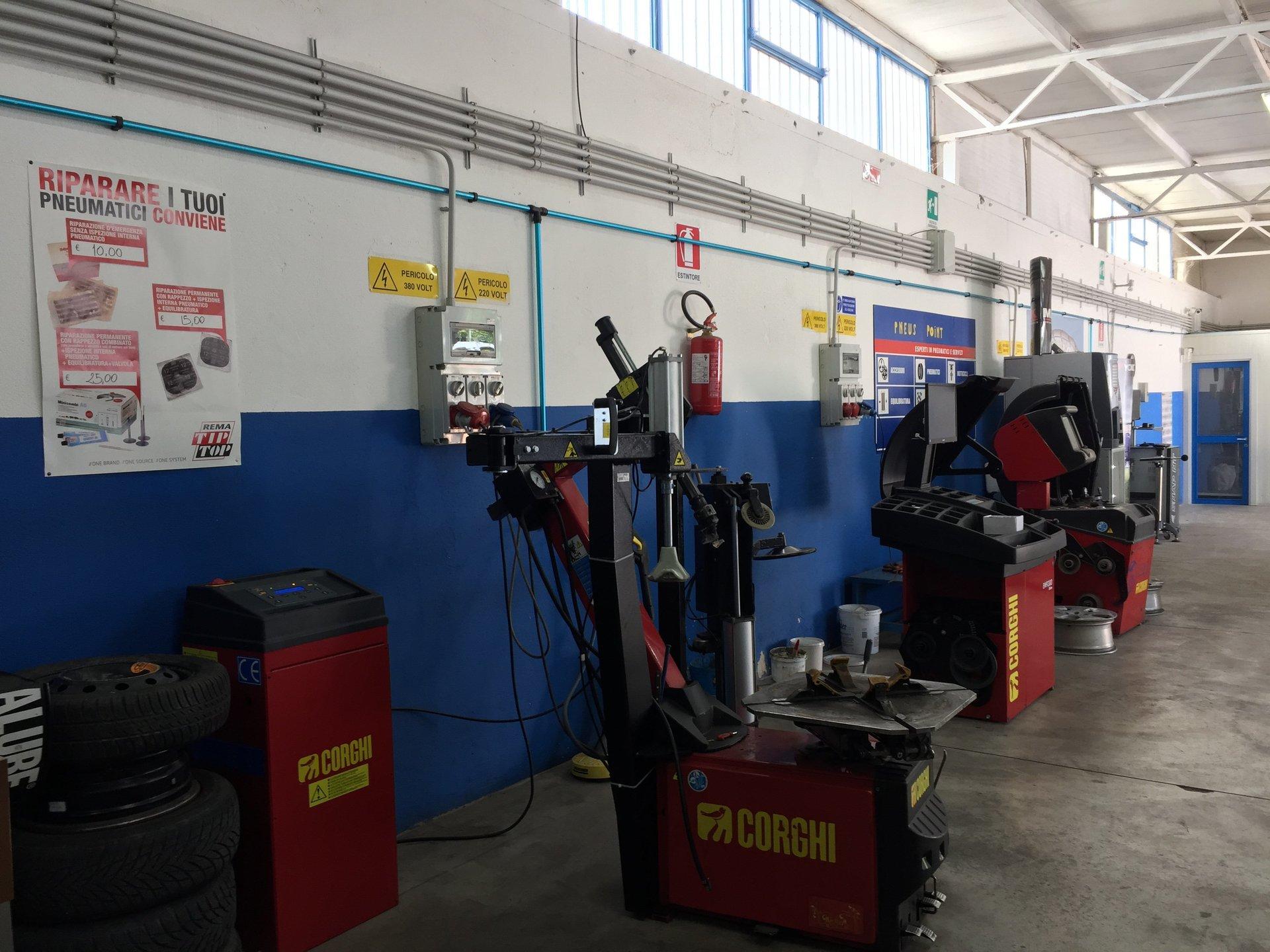 Dei macchinari per pneumatici