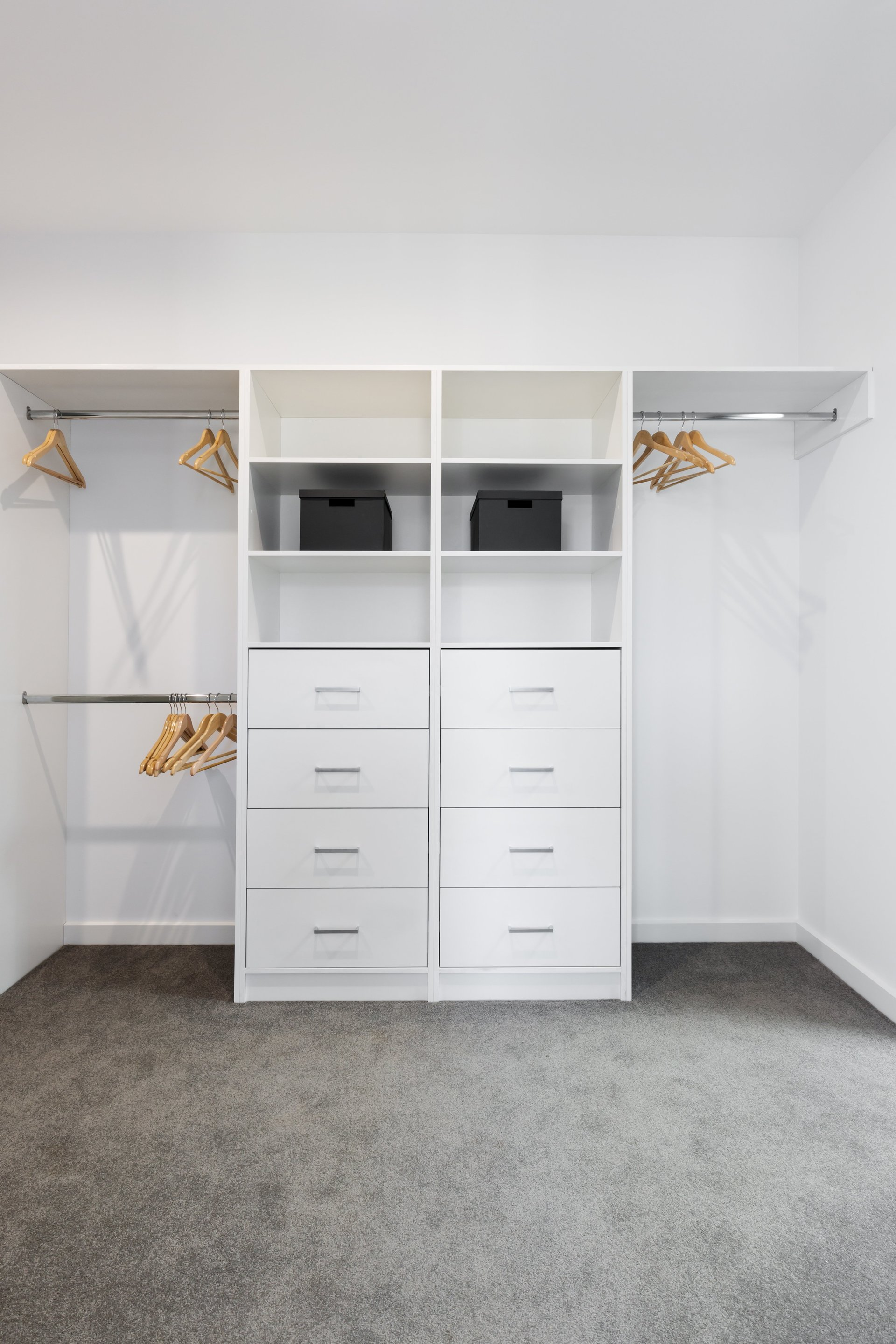 A cabinetry specialist can help renovators and home builders plan the best use of storage space in wardrobes of all sizes.