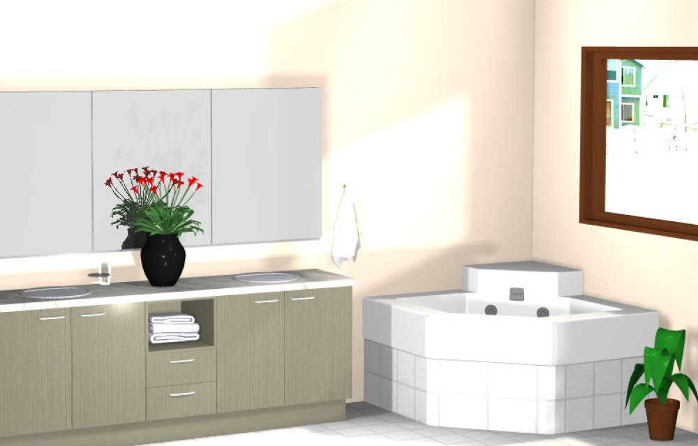 One of our floral bathroom ideas for Seymour