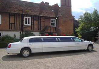 white stretch limousines