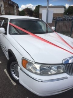 White limousine decorated