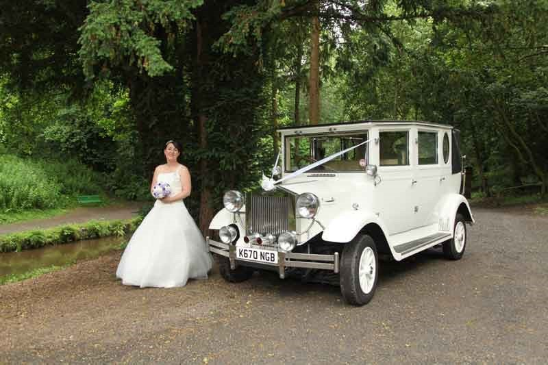 bride and limousine