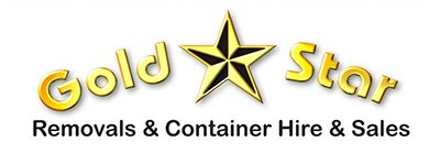 gold star removals business logo