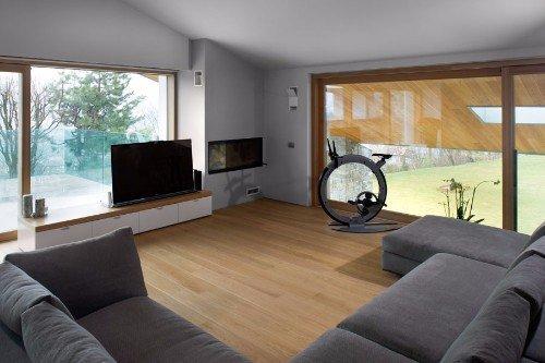 interno di un salotto con parquet