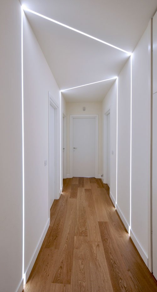 Corridoio con parquet
