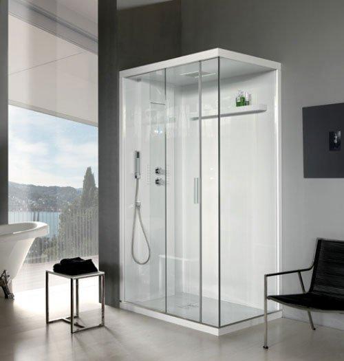 Cabina doccia trasperente