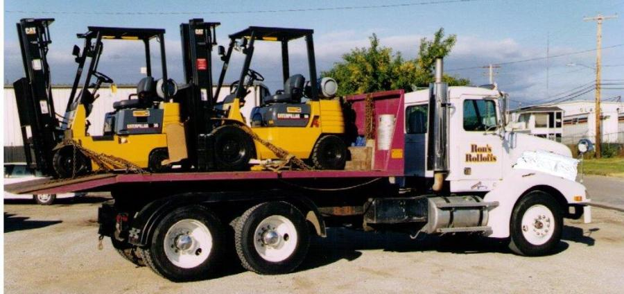 Flatbead service for all your hauling needs (forklifts pictured)