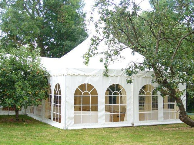 White wedding tents