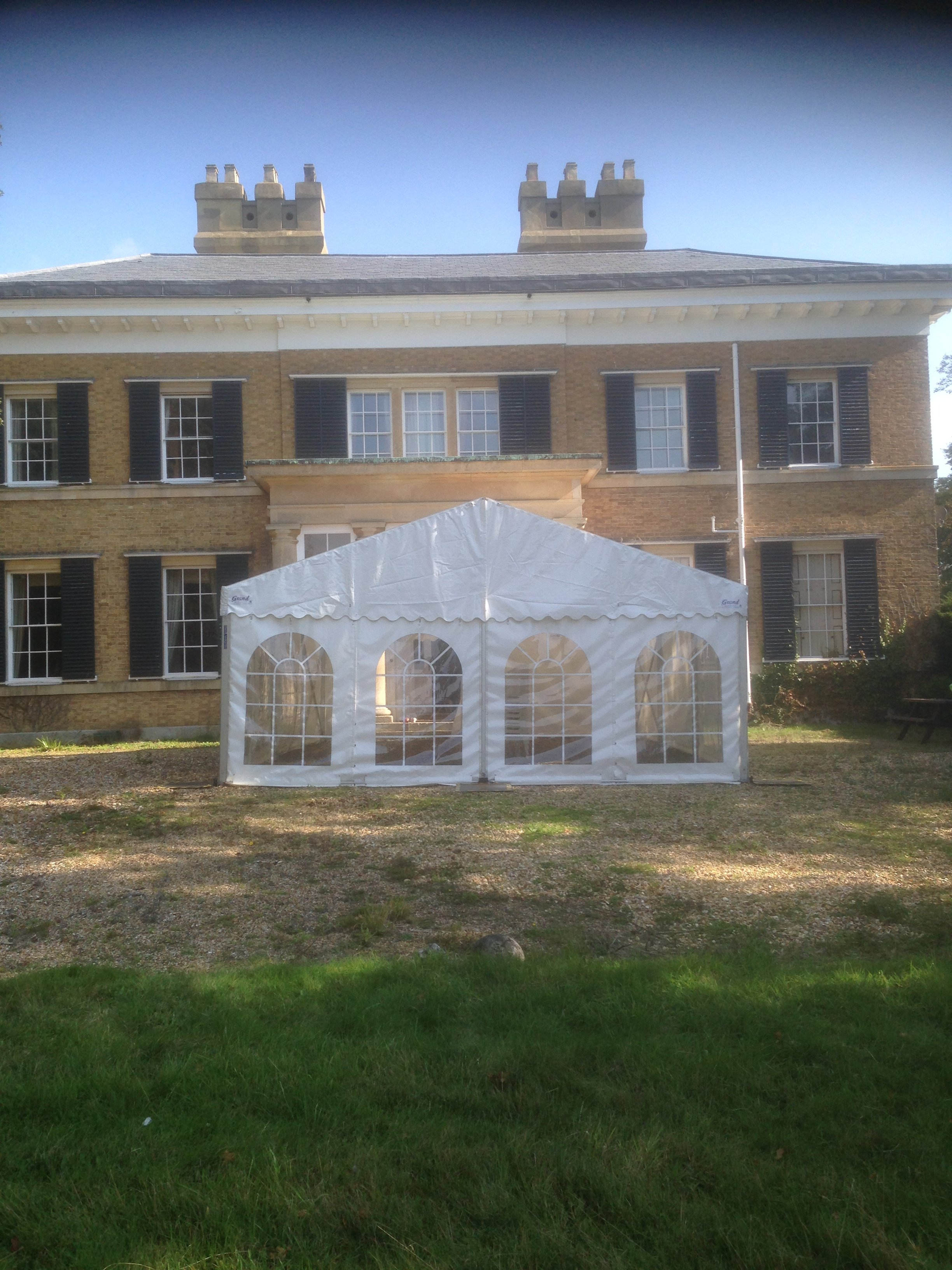 Covered marquee