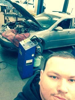 Car being serviced at the Dean's Automotive Service Center in Anchorage