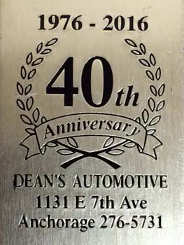 40th anniversary of Dean's Automotive Service Center in Anchorage