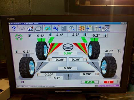 Software used for servicing in Dean's Automotive Service Center in Anchorage