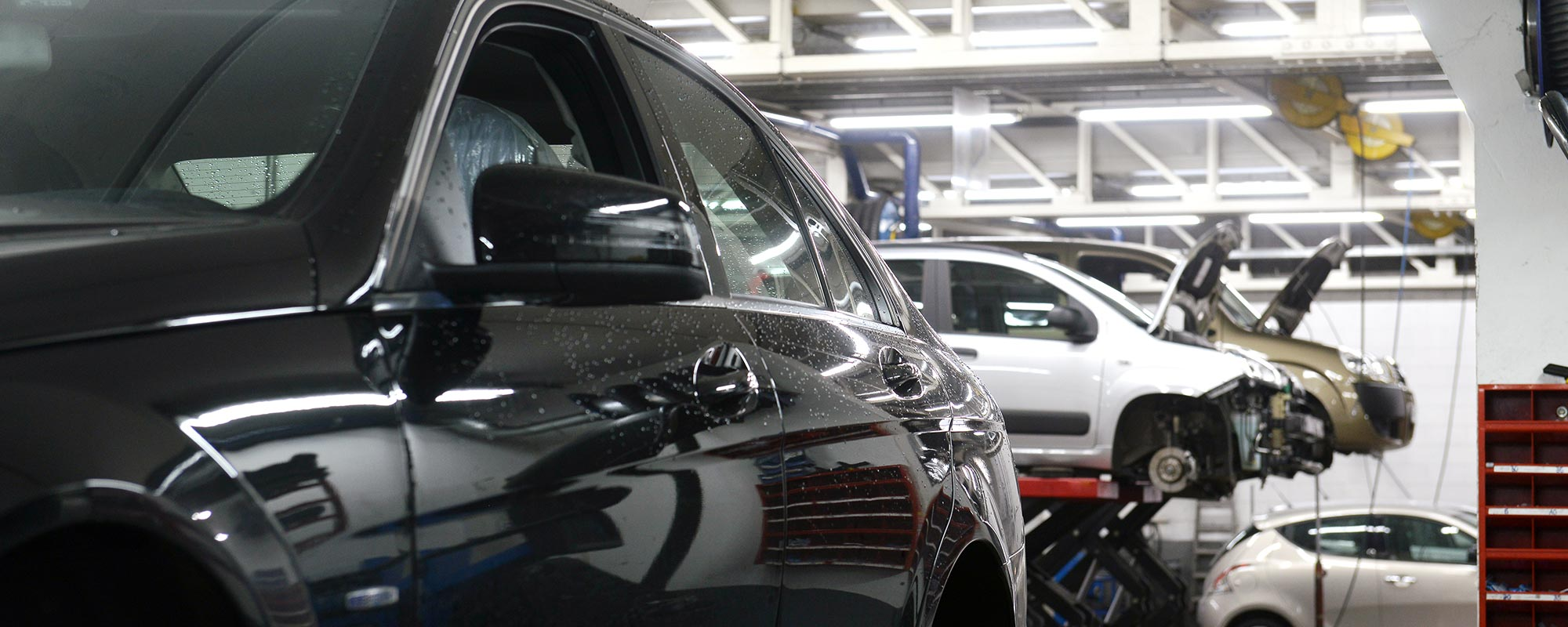Automobile being serviced at Dean's Automotive Service Center in Anchorage