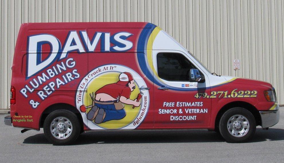 Davis Plumbing and Repair Truck