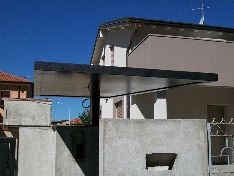 tettoie in ferro
