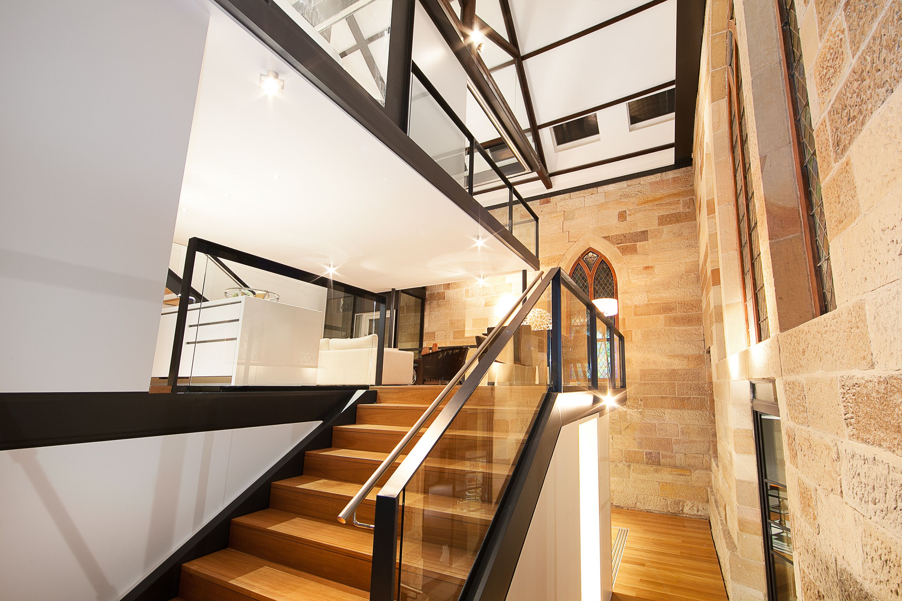 Stairway area with light fittings in Sydney