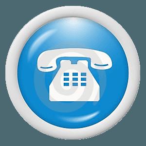 icona blu del telefono