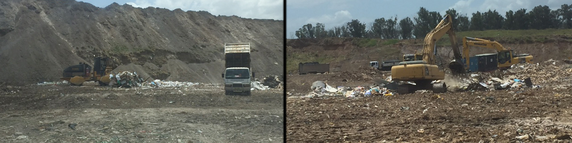 Waste being disposed at the site