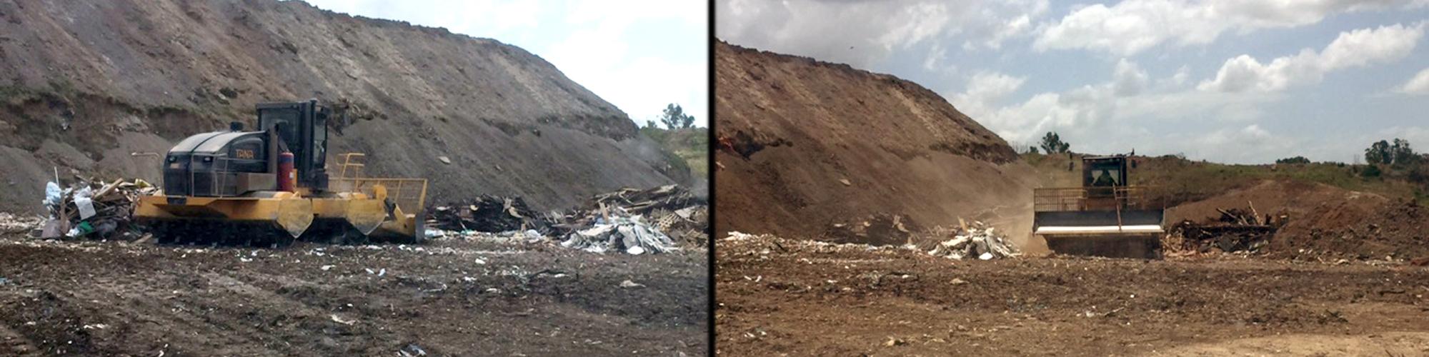 Waste management in Black town underway
